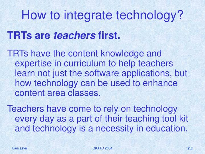 How to integrate technology?