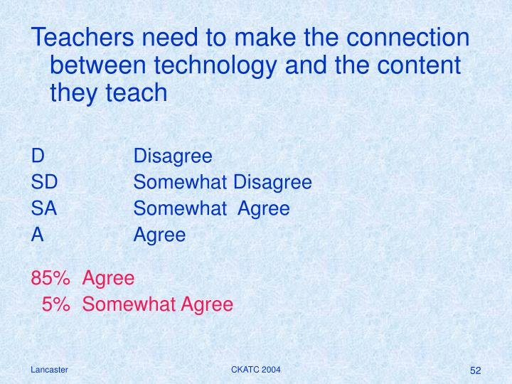 Teachers need to make the connection between technology and the content they teach
