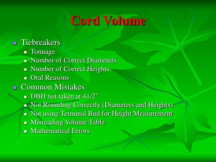 Cord Volume