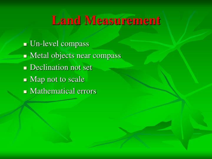 Land Measurement