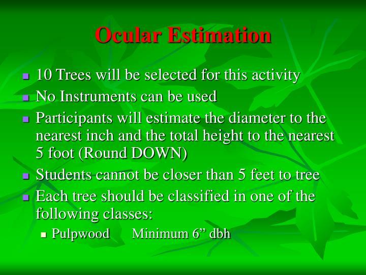 Ocular Estimation