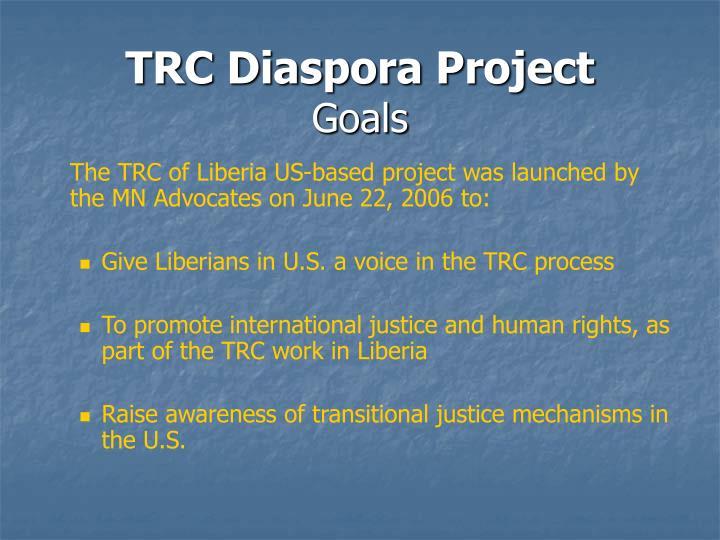TRC Diaspora Project