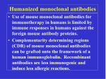 humanized monoclonal antibodies