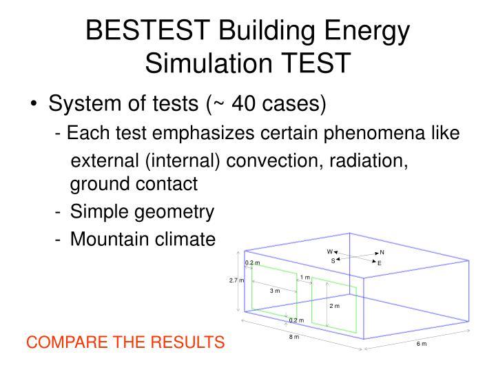 BESTEST Building Energy Simulation TEST