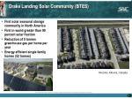 drake landing solar community btes