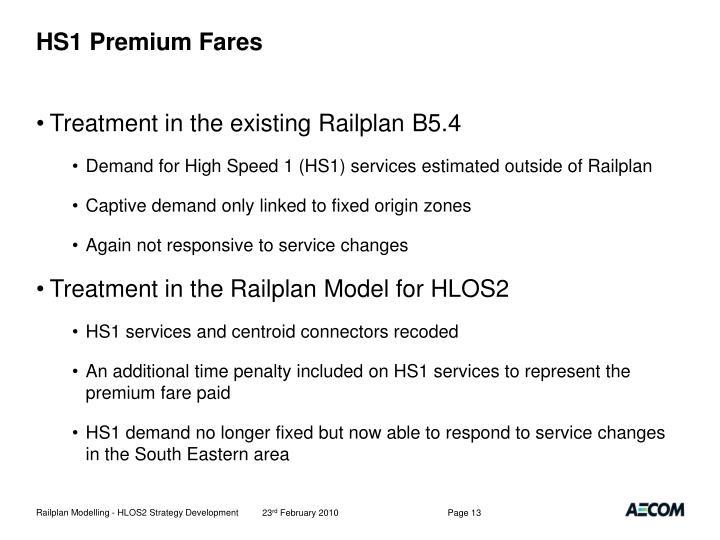 HS1 Premium Fares