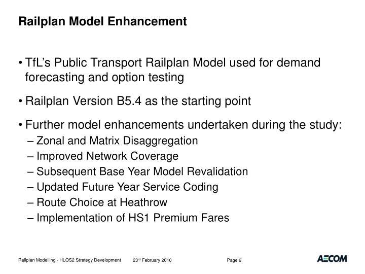 Railplan Model Enhancement