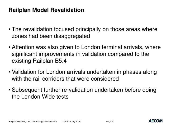 Railplan Model Revalidation
