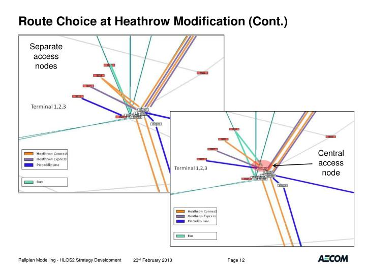 Route Choice at Heathrow Modification (Cont.)