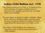 indian child welfare act 1978