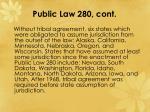 public law 280 cont