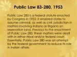 public law 83 280 1953