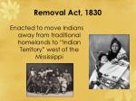 removal act 1830