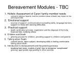 bereavement modules tbc