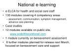 national e learning
