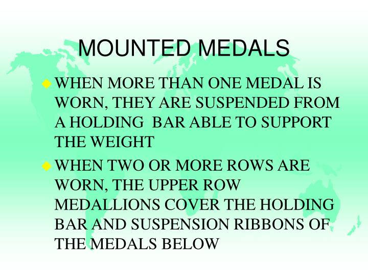 MOUNTED MEDALS
