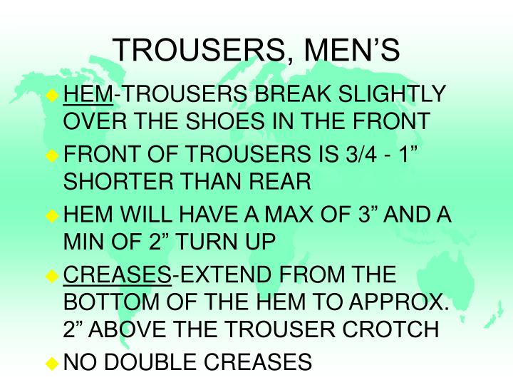 TROUSERS, MEN'S