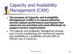 capacity and availability management cam