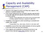 capacity and availability management cam1