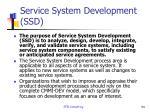 service system development ssd