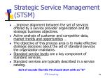 strategic service management stsm1