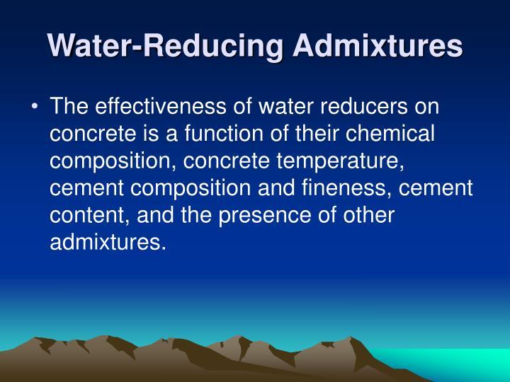 Water-Reducing Admixtures