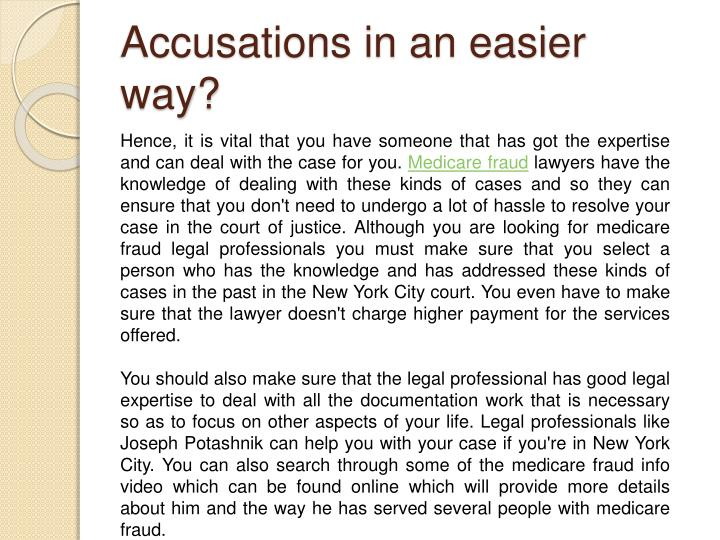 Accusations in an easier way?