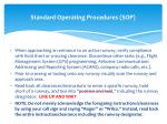 standard operating procedures sop2