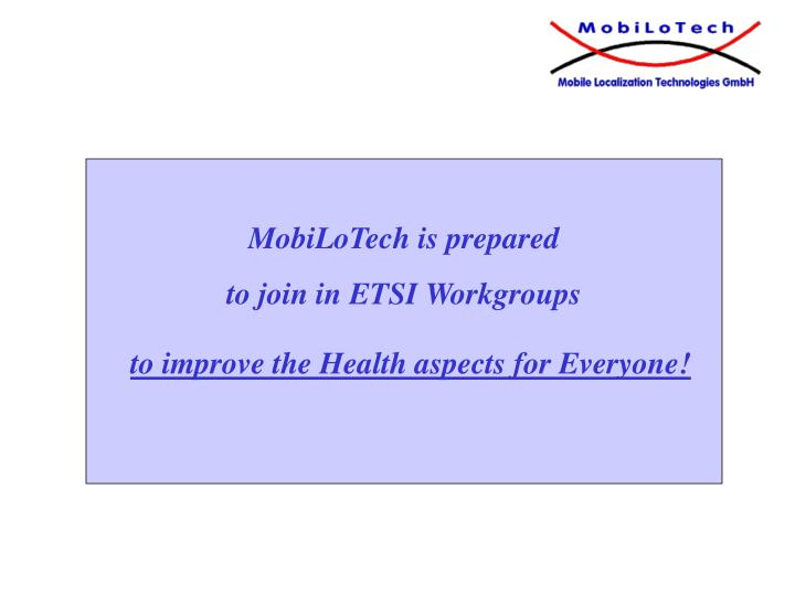 to improve the Health aspects for Everyone!