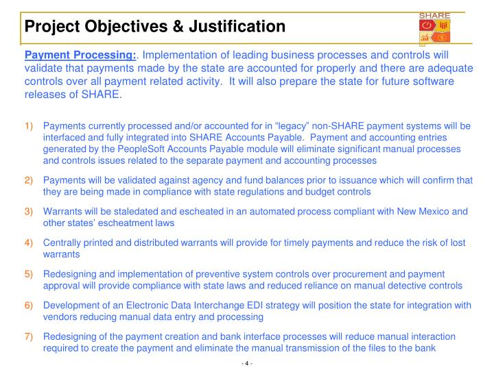 Project Objectives & Justification