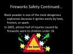 fireworks safety continued