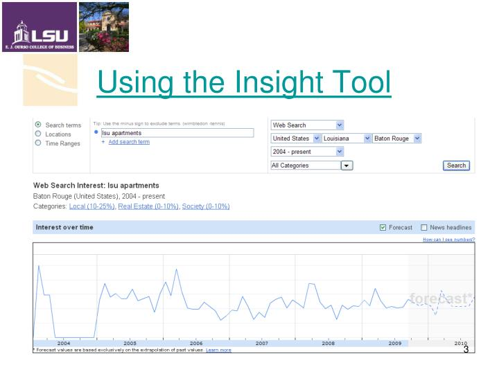 Using the insight tool
