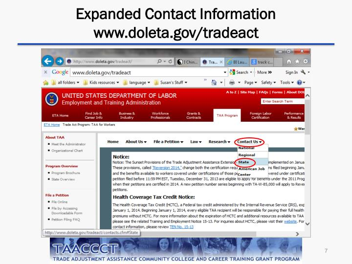 Expanded Contact Information