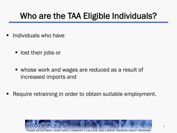 Who are the TAA