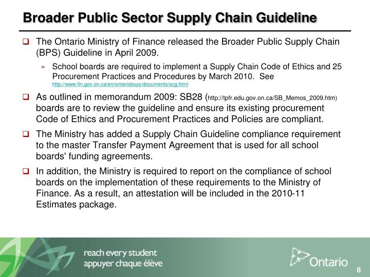 Broader Public Sector Supply Chain Guideline