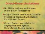 direct entry limitations