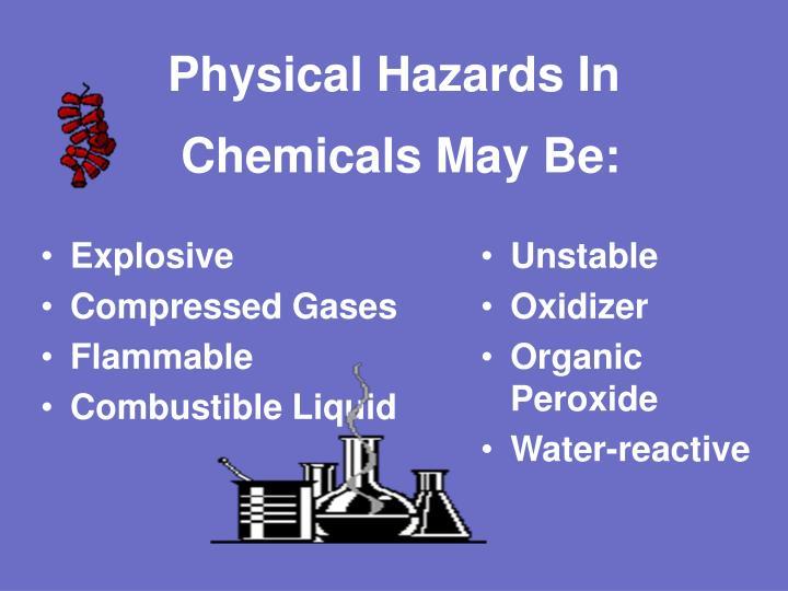 Physical Hazards In