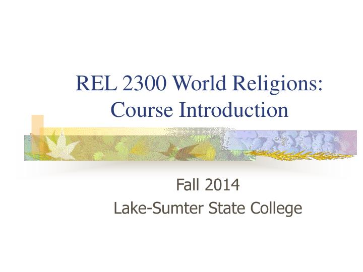 rel 2300 world religions course introduction n.