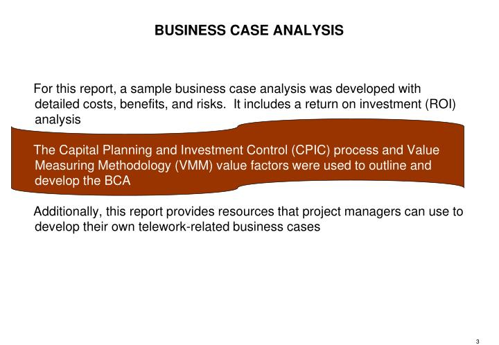 BUSINESS CASE ANALYSIS