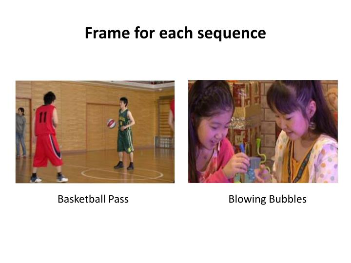Frame for each sequence