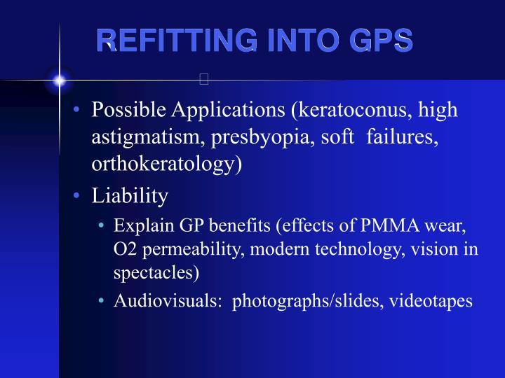 REFITTING INTO GPS