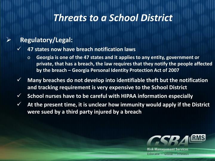 Threats to a School District
