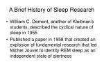 a brief history of sleep research1