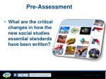 pre assessment