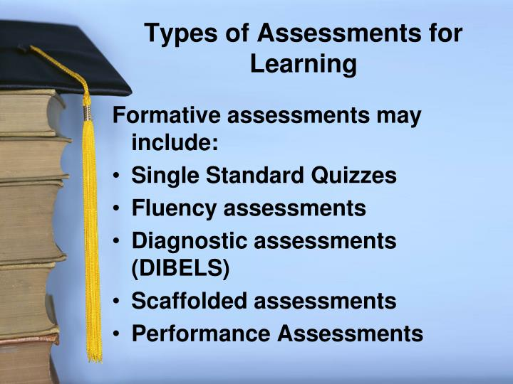 Types of Assessments for Learning