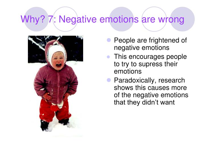 Why? 7: Negative emotions are wrong