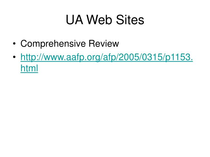 UA Web Sites