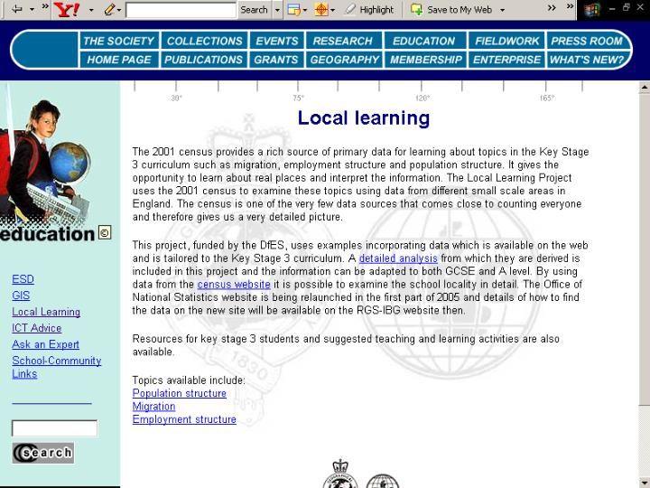 Local learning