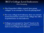 rcc s college level indicators peer grouping