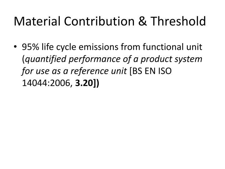 Material Contribution & Threshold
